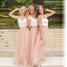 Dinámica de Durazno Rosa Faldas de Tul De Dama de Honor Para La Boda parte de la Cremallera Estilo Tutu Falda Para Las Mujeres Por Encargo de la Alta calidad