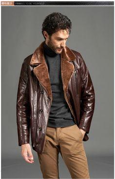 Sheepskin Leather Coat