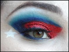USA inspired eye make up