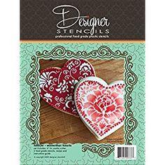Valentine's Day Hearts Cookie Stencil & Cutter Set by Designer Stencils Valentines Day Cookies, Valentines Day Hearts, Heart Cookies, No Bake Cookies, Stencil Cutter, Cupcake Liners, Cookie Cutters, Stencils, Baking