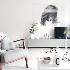 Some Scandinavian interior inspiration. Create your own, unique wall decoration with IXXI!
