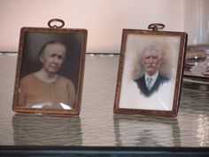 Milk Glass Photos Opalotype Photos Vintage Framed by SaleOfEstates, $119.00