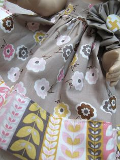 """On Friday I sewed a new dress for Pansy.   Pansy is an 18"""" Daisy Kingdom doll   from way back several years....."""