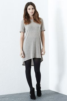 Check out this Clean Marl Tee-Shirt Dress from Warehouse.