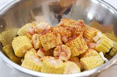 Cut the corn into 2-inch pieces, then put the pieces in a bowl with the butter and paprika.