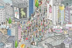 Digital map of Tokyo for the Tokyo Skytree | Art and design inspiration from around the world - CreativeRootsArt and design inspiration from around the world – CreativeRoots