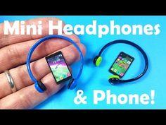 DIY Miniature Doll Headphones & Cell Phone - YouTube