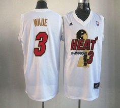 heat 3 dwyane wade white 2012 nba champions stitched nba jersey