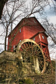 Topaz Mill is in Douglas County, Missouri on North Fork River.  It was originally built in 1840 and then rebuilt in 1895.  Picture taken by Meth Swanson on flickr.  KG