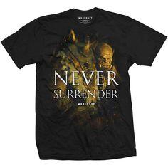 World of Warcraft Men's Tee: Never Surrender Wholesale Ref:WOWTS04MB