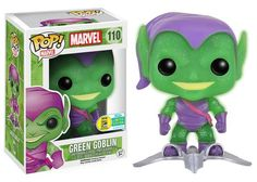 Pop! Marvel: Translucent Glitter Green Goblin with Glider - Funko - SDCC 2016 Exclusive