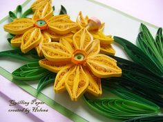 Quilling Card  Quilled Card  Anniversary quilling by MadeByHelenka