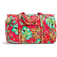 Vera Bradley Large Duffel Travel Bag (1.133.900 IDR) ❤ liked on Polyvore featuring bags, luggage and rumba