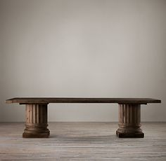 Restoration Hardware - Salvaged Wood Architectural Column Extension Dining Tables To be used as a desk