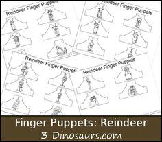 Reindeer Finger Puppets - 3Dinosaurs.com