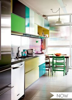 Multi-colored Cabinets in the Kitchen | Apartment Therapy