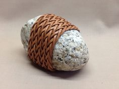 leather wrapping stone gaucho knot of two passes