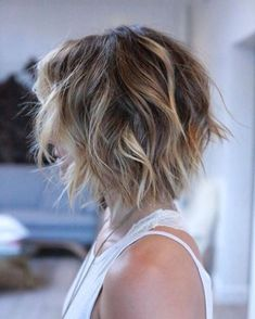 Shaggy Layered Bob for Thin Hair Hairstyles in 2018