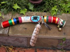 Talking stick made for Chris Craig, fellow Otter Tribe member from Pacifica Graduate Institute, 2006