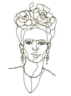 Frida Kahlo alambre de la escultura retrato decoración
