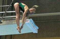 Helen Heiskanen takes a dive.