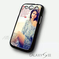 Selena Gomez Vogue Samsung Galaxy S3 Case - 1