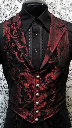 I'd need to build more wearing ease into the front but I like this   --Victorian Aristocrat Vest by Shrine Clothing Goth Steampunk Mens Jackets #provestra
