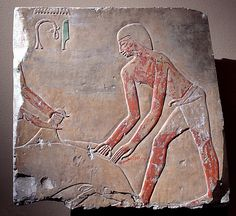 Relief with butchers   Period: Middle Kingdom Dynasty: Dynasty 11 Reign: reign of Mentuhotep II, later Date: ca. 2020–2000 B.C. Geography: Country of Origin Egypt, Upper Egypt; Thebes, Deir el-Bahri, Temple of Mentuhotep II Medium: Limestone, paint