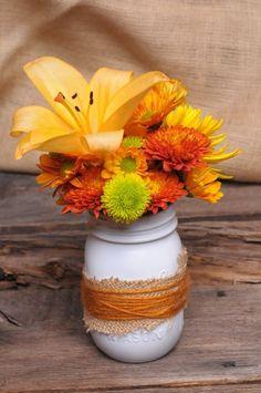 Mason Jar Fall Centerpiece