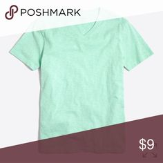 J. Crew garment-dyed crew-neck tee, seaside aqua This garment was dyed and washed after completion, resulting in a soft, worn-in feel. Cotton, Regular fit, Rib trim at neck. New with tags, never worn. J. Crew Shirts Tees - Short Sleeve