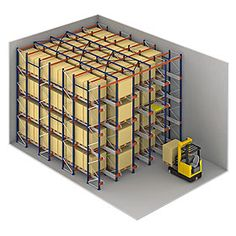 Pallet Shuttle from Interlake Mecalux  Warehouse Cubed is a distributor and partners with Interlake Mecalux. We also provide installations. http://www.warehousecubed.com