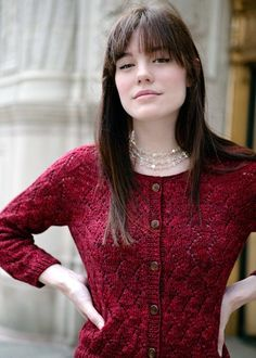 Chic Knits Derica Kane Cardigan Knitting Pattern | FREE SHIPPING!