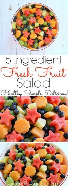 The BEST 5 Ingredient Fresh Fruit Salad | Whether you signed up to bring fruit to a summer BBQ or just want a bowl in the fridge to snack…