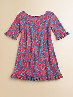 Lilly Pulitzer Kids - Toddler's & Little Girl's Seahorse Print Knit Dress