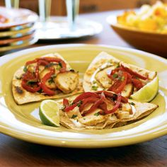 Soft Chicken Tacos by southbeachdiet: Mini tacos filled with chicken seasoned with fresh garlic, lime and cilantro #Tacos #Chicken #southbeachdiet