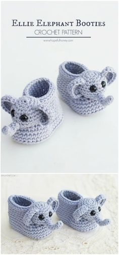 Here I have a list of of the best free #crochet #baby #booties patterns for your inspiration.Ellie The Elephant Baby Booties