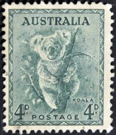 Australia 1937 koala postage stamp
