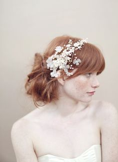 Cherry blossom and crystal headband - Style - #356 (2013, crystal headpiece, hair adornment, hair adornments, headpiece, headpieces, twigs & honey, view all) | Headpieces | Twigs & Honey ®, LLC