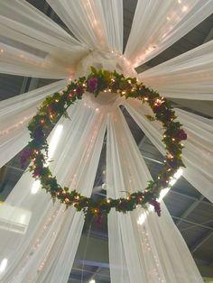 Tent Wedding, Wedding Bells, Wedding Stuff, Quinceanera Decorations, Wedding Decorations, Table Decorations, Love Bells, Ceiling Decor, Elegant Wedding