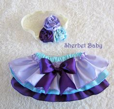 Headband Triple Ribbon Rose Sassy Pants Ruffle Diaper Cover! This would be the cutest for 1 year photos!