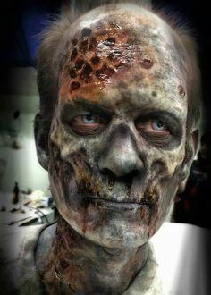 Horrifying undead creature makeup effect idea.  Pair with berzerker FX contact lenses to achieve this effect ~ https://www.pinterest.com/pin/350717889711924873/