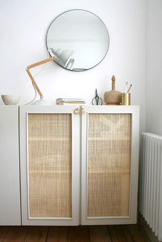 Ikea Furniture Hacks, Cane Furniture, Furniture Makeover, Ikea Hacks, Ikea Ivar Cabinet, Diy Cabinets, Home Projects, Diy Home Decor, Interior Design