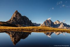 Reflection at Passo Giau - This picture was shot during the Dolomites October 2016 photo workshop.