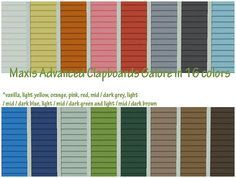 I come bearing some recolors of Maxis walls, 16 colors to be exact. Each color has a solid siding + right and left accent ones, and the folders are clearly labeled. www.mediafire.com/ Enjoy!!