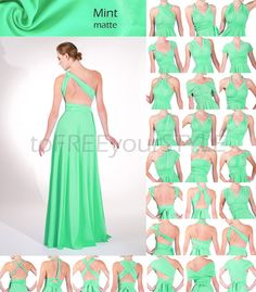 Long infinity dress in MINT matte FULL by toFREEyourSTYLE on Etsy