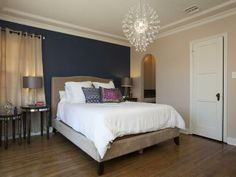 Love the walls and the light fixture! As seen on the HGTV series, House Hunters Renovation --> http://hg.tv/vtdq