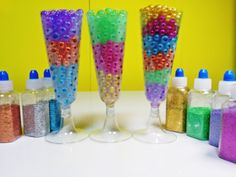 How to make Glitter Orbeez cocktail -  반짝이 개구리알 칵테일 만들기 놀이 장난감