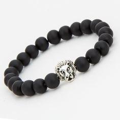 @thetieguys Lion Head Bracelet - Matte Black