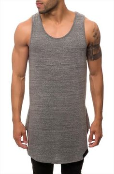 Peur Tank - Seize and Desist $49.99  Elongated tank top meant as a key layering piece.  100% Cotton