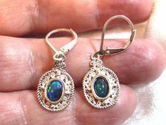 6x4 Welo Opal Earrings, Ethiopian Opal Earrings 925 Solid Sterling Silver Leverbacks